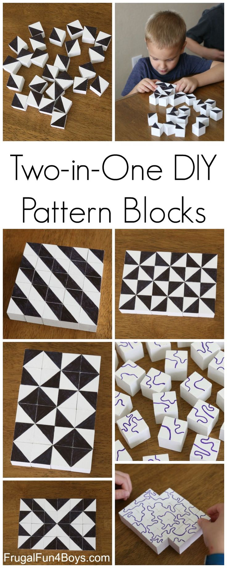 DIY Pattern Building Blocks: An Awesome STEM Activity for Kids