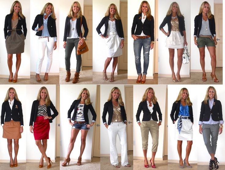 I have a navy blazer and this gives me more ideas about how to wear it.!