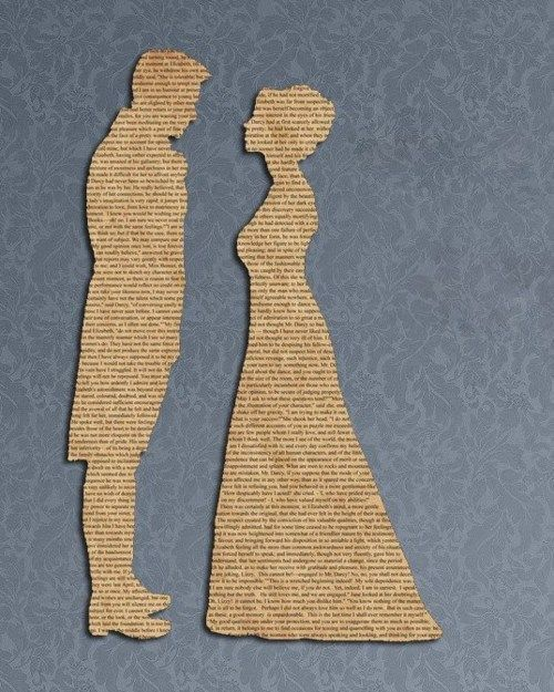 silhouettes on book pages..I love using book pages to cut out just about anything!: