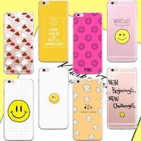 Lovely Emoji Splendid Smile Face Case For iphone 6 6S Transparent Silicone Phone Back Cover