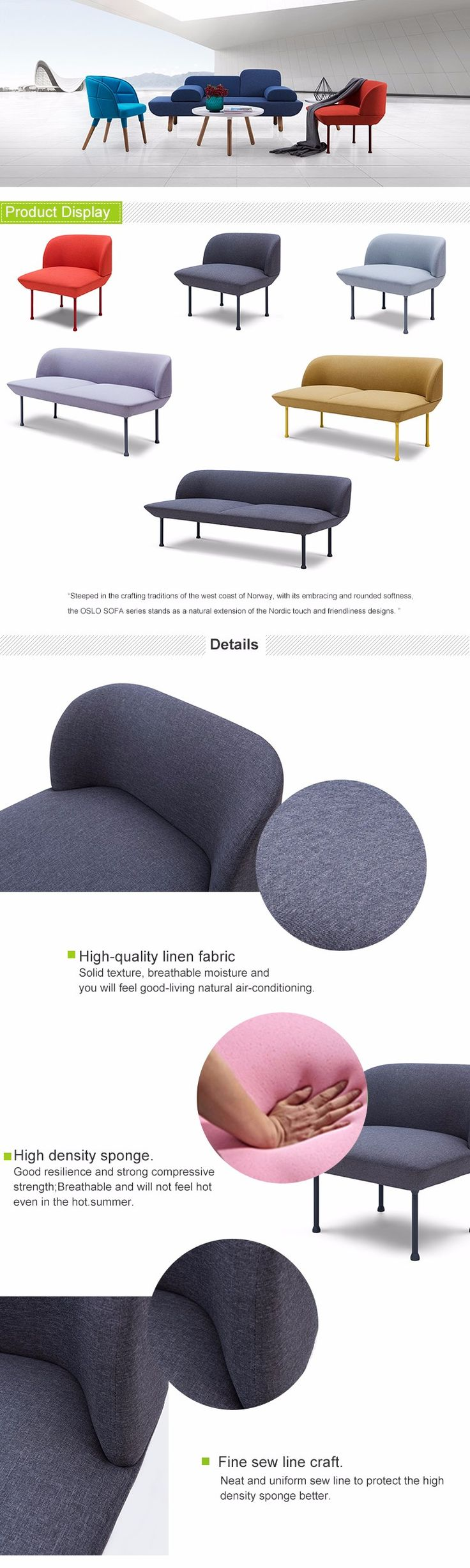 Scandinavian Fabric Two Seat Sofa In Bedroom For Hotel, View Sofa In Bedroom, OEM Product Details from Mindawe  Furniture Limited (Huizhou) on Alibaba.com