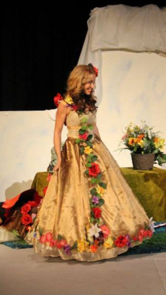 Flower princess or Queen or Mother Nature costume.