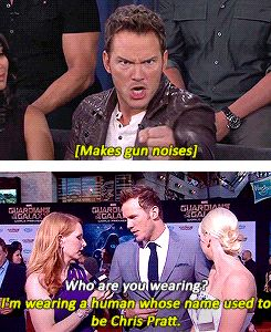 I remember the second one. He asked the interviewer to ask who he was wearing