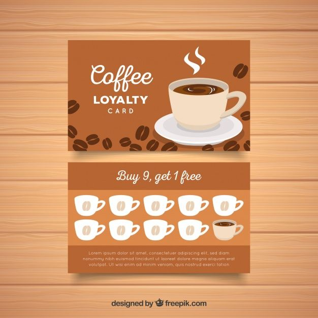 Download Loyalty Card Template With Coffee Coupons For Free Loyalty Card Template Loyalty Card Loyalty Card Design