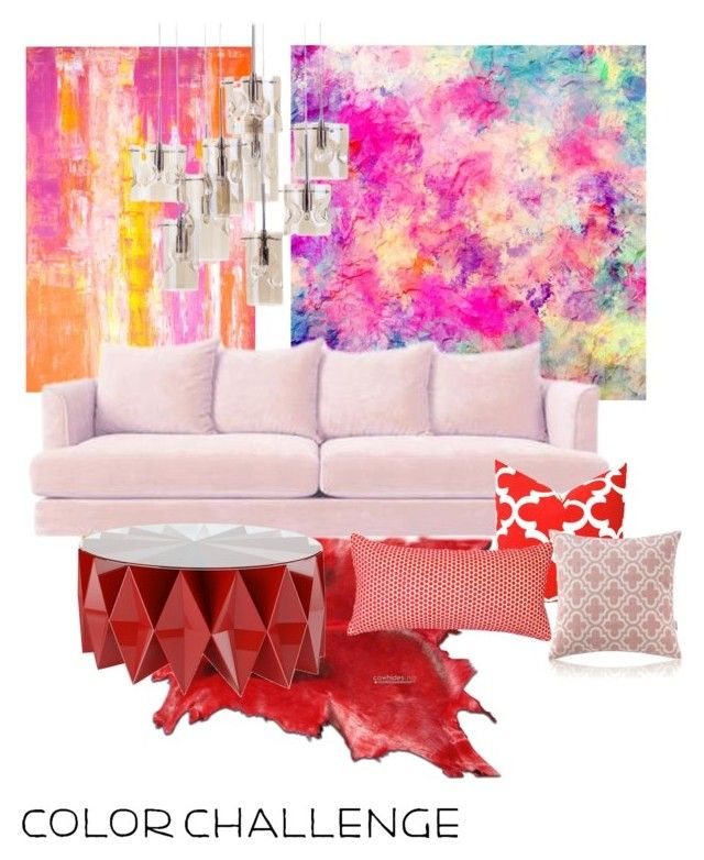 """Pink & red"" by hofverholm on Polyvore featuring interior, interiors, interior design, home, home decor, interior decorating, Squarefeathers, Altreforme, colorchallenge and redandpink"