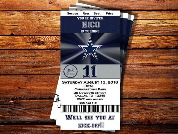 Check out this item in my Etsy shop https://www.etsy.com/listing/479401629/dallas-cowboys-ticket-birthday