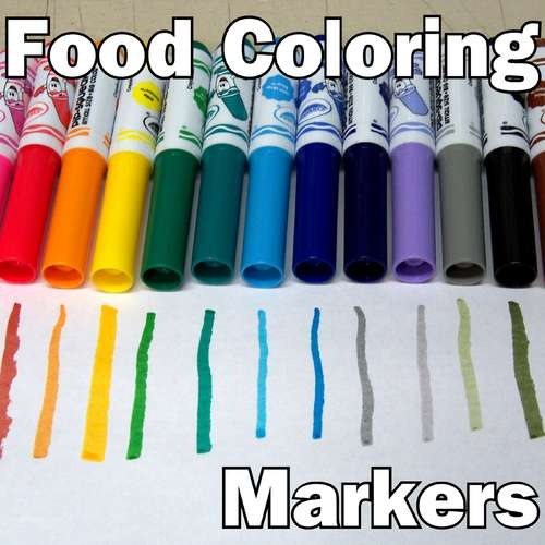 Make your own food coloring markers from old non-toxic washable markers.: Kids Cakes Diy, Crafts Ideas, Christmas Cookies, Decor Cakes, Diy Food, Decor Cookies, Food Coloring, Color Markers, Foodcolor
