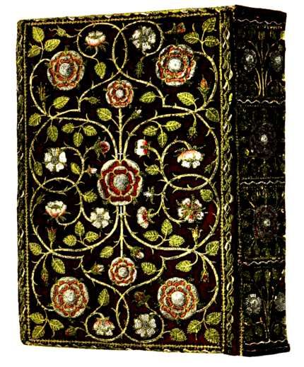 English Embroidered Book Bindings by Cyril Davenport 1899: Embroidered Velvet, Embroidered Bookbinding, English Embroidered, Book Binding, Bookbinding Class, Elizabethan Bookbinding, Queens Elizabeth, Embroidered Book Covers, Embroidery Art