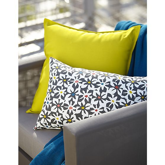 """Sunbrella® Sulfur 20"""" Sq. Outdoor Pillow in Outdoor Pillows & Poufs 
