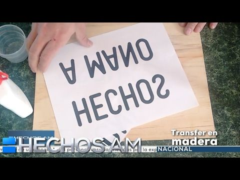 ¿Cómo hacer un transfer de letras a madera? - YouTube