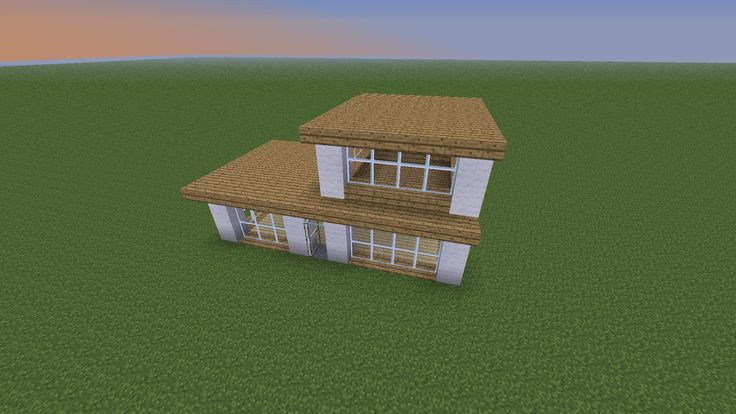 A modern minecraft house that I could probably pull off P Nerd