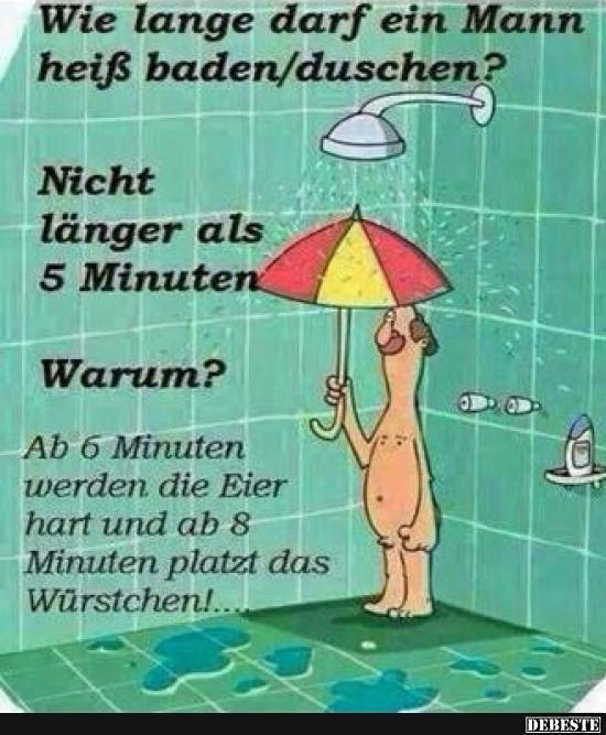 Wie lange darf ein Mann heiß baden? | DEBESTE.de, Lustige Bilder, Sprüche, Witze und Videos