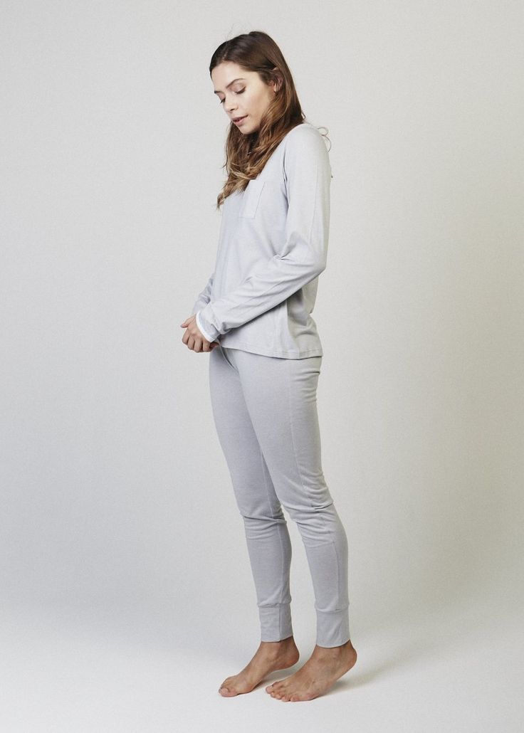 Mila Slim-Fit Cozy Jogger Pajama Pant. Pants of your dreams. A slim fitting cuffed pyjama pant.