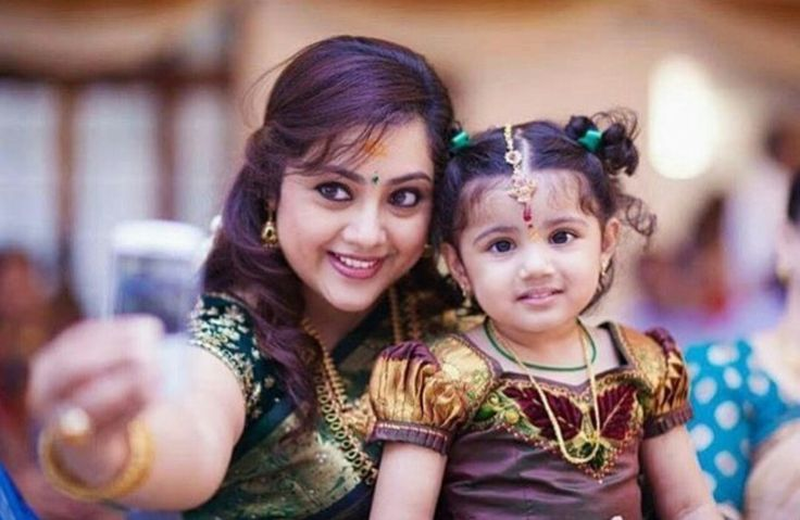Cute #Nainika when she was younger....!!  With mom #Meena   #TheriBaby