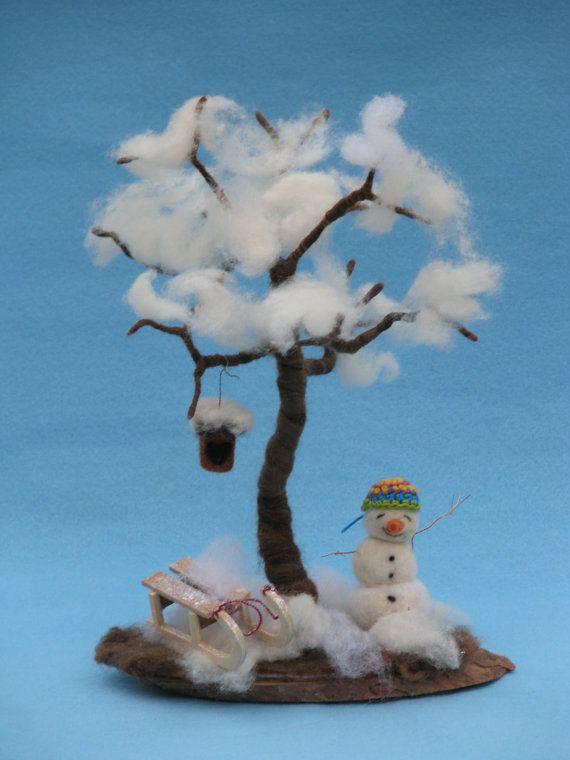 Naald vilten seizoensgebonden boom