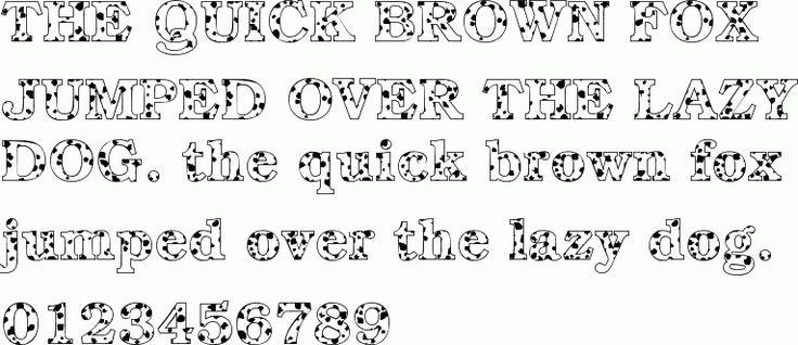quot Dalmatian quot font Great for 101