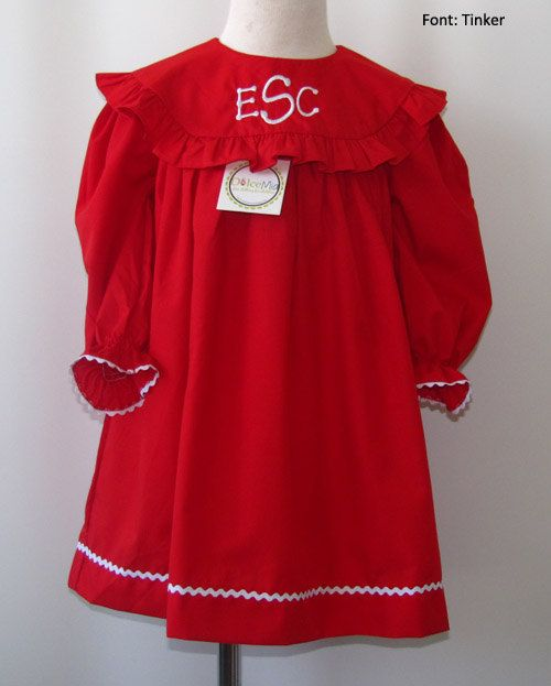 Monogrammed Christmas dresses for girls,Toddler girl christmas dress dresses,Long sleeves christmas dresses 3m up to 7y FREE Personalization on Etsy, $40.00