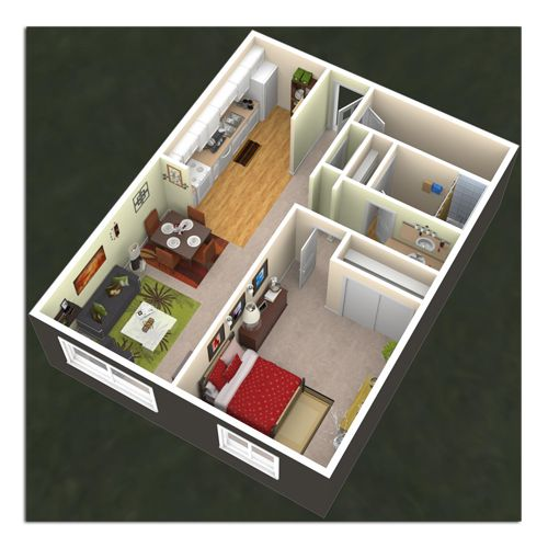 houses under 700 square feet   Bedroom - 700 Square Feet