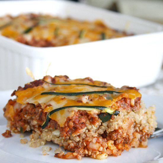 Perfect comfort food without all the gluten! Quinoa Lasagna packed with protein and veggies.You will definitely want seconds!