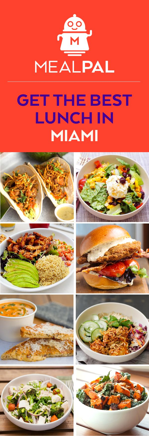 Get lunch for under $6 every day! We partner with over 50 restaurants in Miami, including Brickell Fresh, SuViche, La Mexicana Cantina & Grill, Bonding, Brother Jimmy's BBQ, and more! Reserve lunch daily and skip the line when you pick up. MealPal is members only - request an invite now to skip the waitlist!