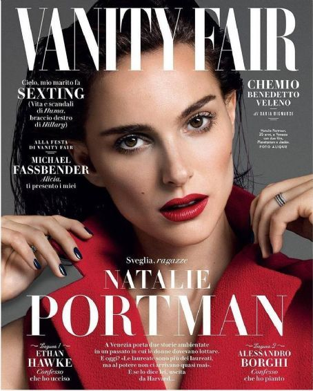 Captivating Natalie Portman   Vanity Fair Magazine Cover [Italy] (September 2016)