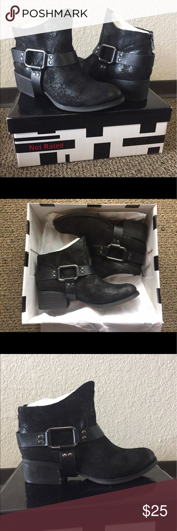 """Not Rated, Black, Booties Brand new Not Rated booties in """"finch"""" black. Not Rated Shoes Ankle Boots & Booties"""