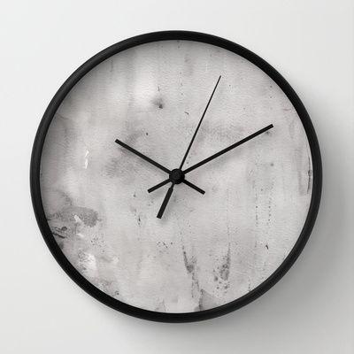 Grey Wall Clock by Alina Sevchenko - $30.00