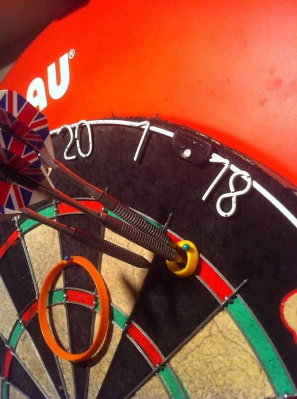 The Practice Ring of Accuracy: The Eric Bristow practice rings.