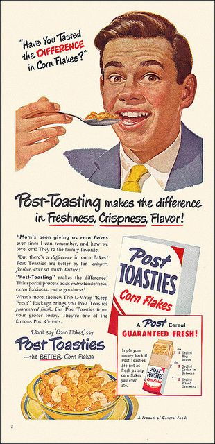 Post Toasties Ad, 1950 by alsis35, via Flickr