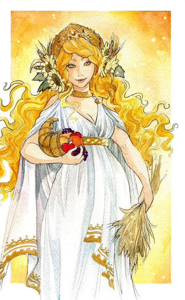 Картинки древнегреческой богини плодородия