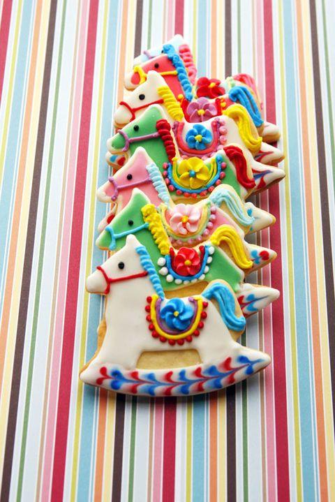 rocking horse sugar cookies