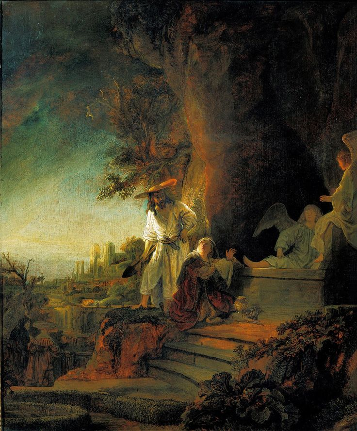 Rembrandt, Christ Appearing to Mary Magdalene as a Gardener, 1638, oil on wood, 61cm x 49.5 cm (copyright 2011 Her Majesty Queen Elizabeth II)