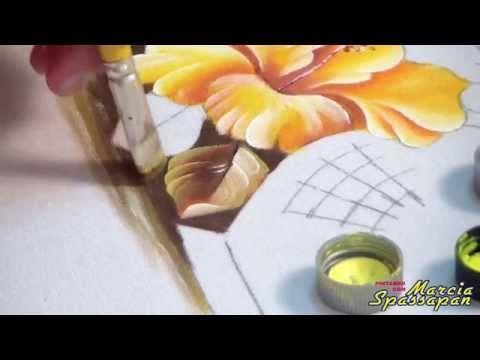 Pintura em Tecido Tulipa - YouTube