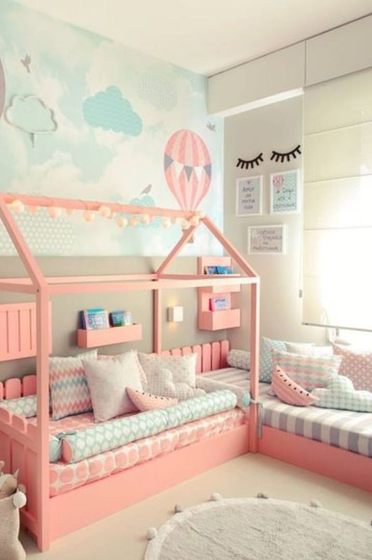 Bedroom Ideas For Each Child 30 Fabulous Room Ideas For Children Who Love Colors New 2021 Page 15 Of 30 Eeasyknitting Com House Beds For Kids Toddler Rooms Girl Room Toddler girls bedroom ideas