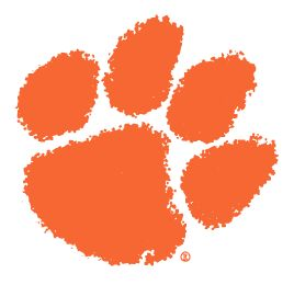 Clemson Tiger Paw ~ Favorite College Football Team