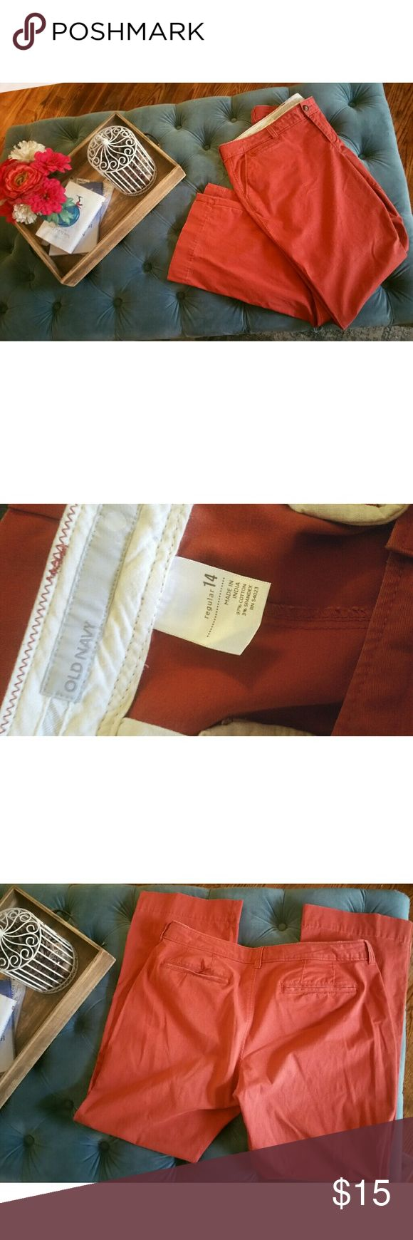 🍂FLASH SALE OLD NAVY Burnt Orange Pants 14 🍂FLASH SALE - TODAY ONLY 11/21!  In perfect gently used condition. Perfect for the fall wardrobe. Have always gotten a lot of compliments when I warn these, very cute with a variety of tops!  PRICES ARE FIRM, UNLESS BUNDLED 2 OR MORE ITEMS. Old Navy Pants Boot Cut & Flare