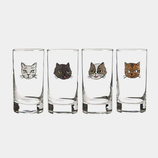 These cat shot glasses are purrfect!