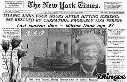 Image result for Titanic Deaths