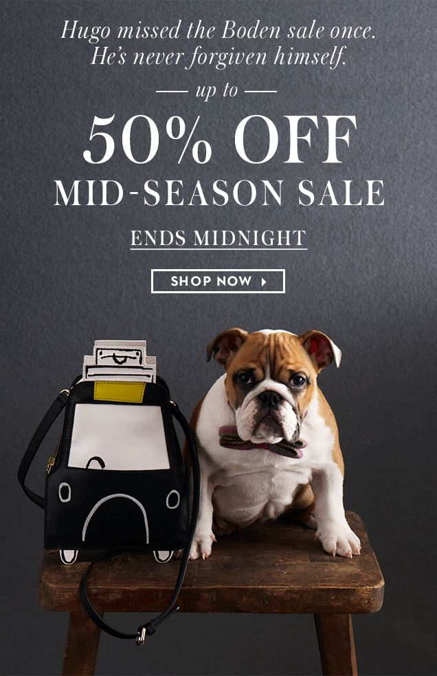 Don't miss the Boden mid-season sale - up to 50% off - Shop Now ►