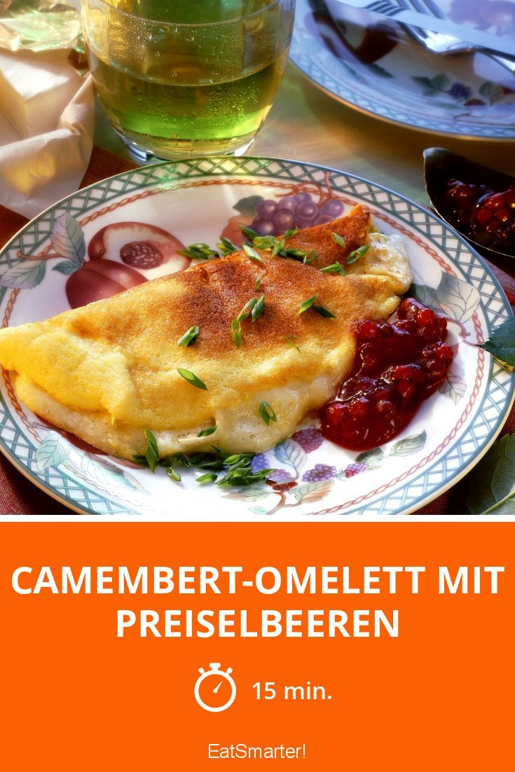 Camembert-Omelett mit Preiselbeeren - smarter - Zeit: 15 Min. | eatsmarter.de