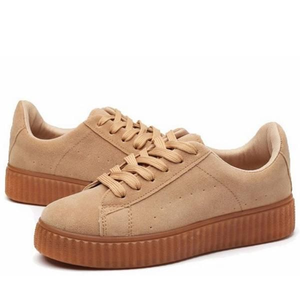 Faux Suede Creepers