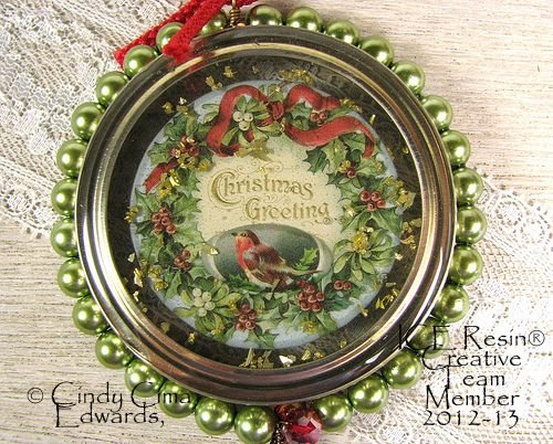 ornaments made from jar lids - Google Search