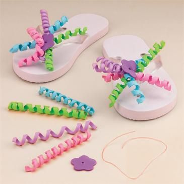 Flip Flop Decorating Craft Kit Makes 12 Diy Projects To Try