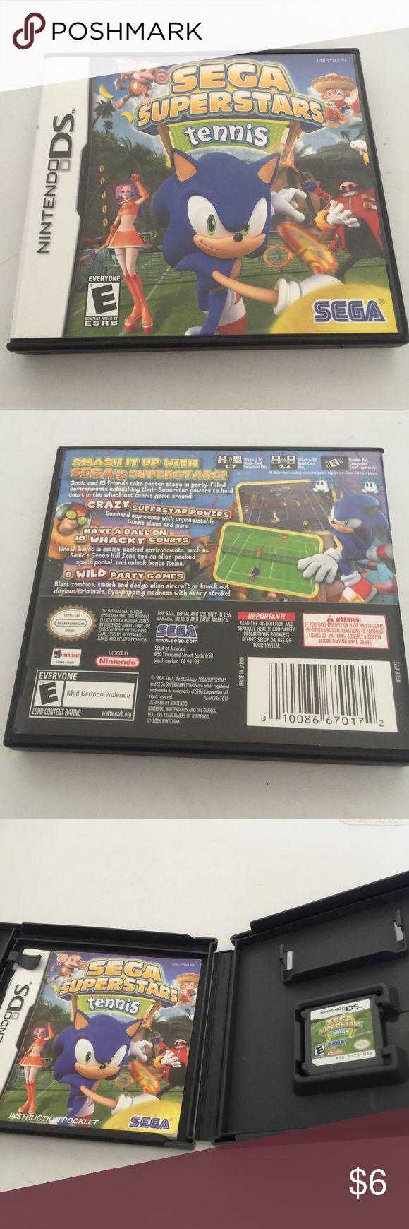 Nintendo DS Sega Superstar Tennis Game Hello, this is a Nintendo DS Sega Superstar Tennis Game. In excellent condition. Final Price Other