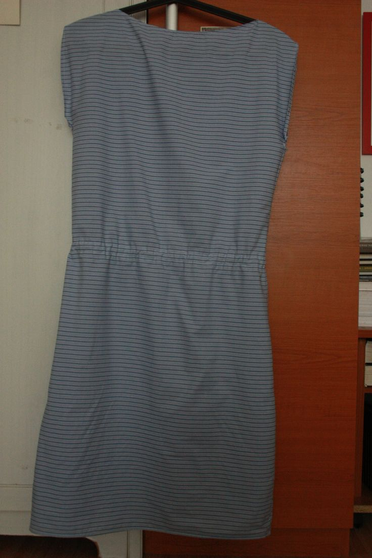 summer dress, done thanks to this tutorial http://www.onelittlemomma.com/2014/05/how-to-sew-simple-blouson-dress-tutorial.html