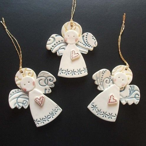 Ceramic Christmas Angels