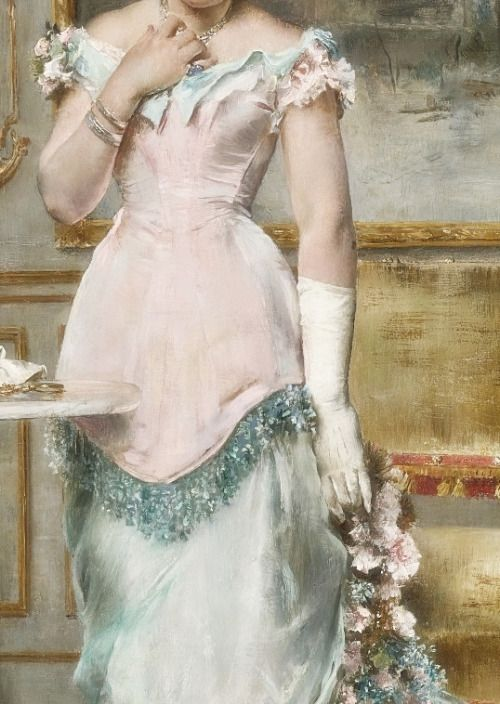 Sadness and classic art, L'attente (Avant le bal), Detail. by Alfred...Steven