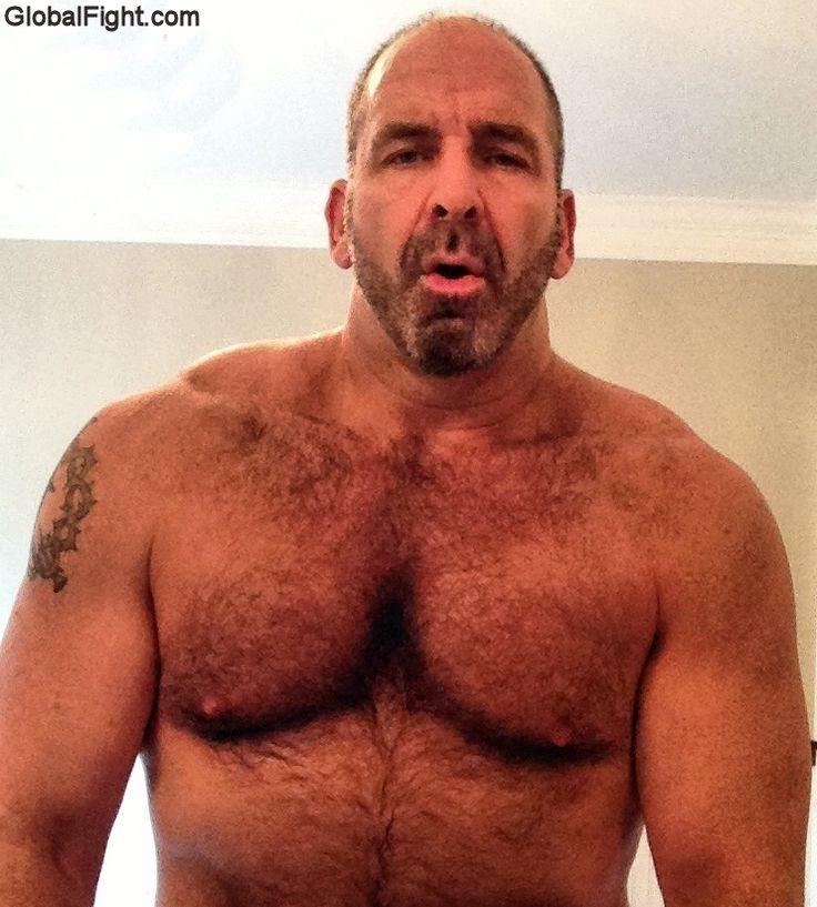 Ruggedly Handsome Older Man  Hairy Muscle Men, Handsome -8601