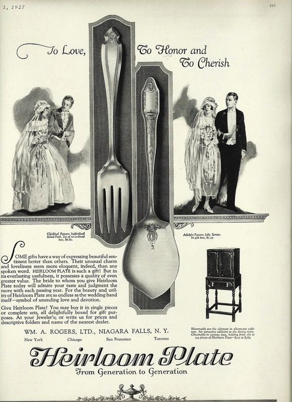 Advert for cutlery, I'd rather have something else as a wedding present though...