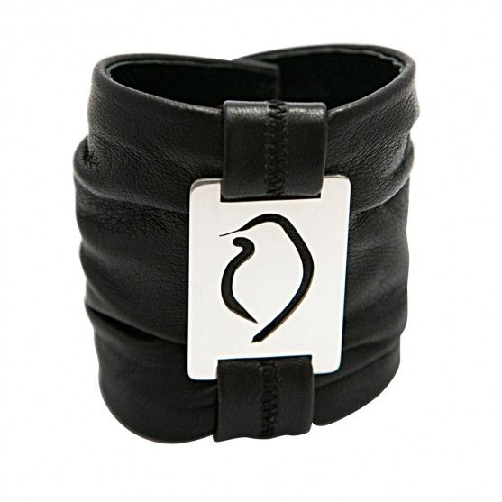 Make a striking statement with my Black Leather Cuff with Square Phoebe. It's like a well-worn leather jacket you never want to take off. #GemmaColesJewellery #AudaciousPhoebe #leather #cuff